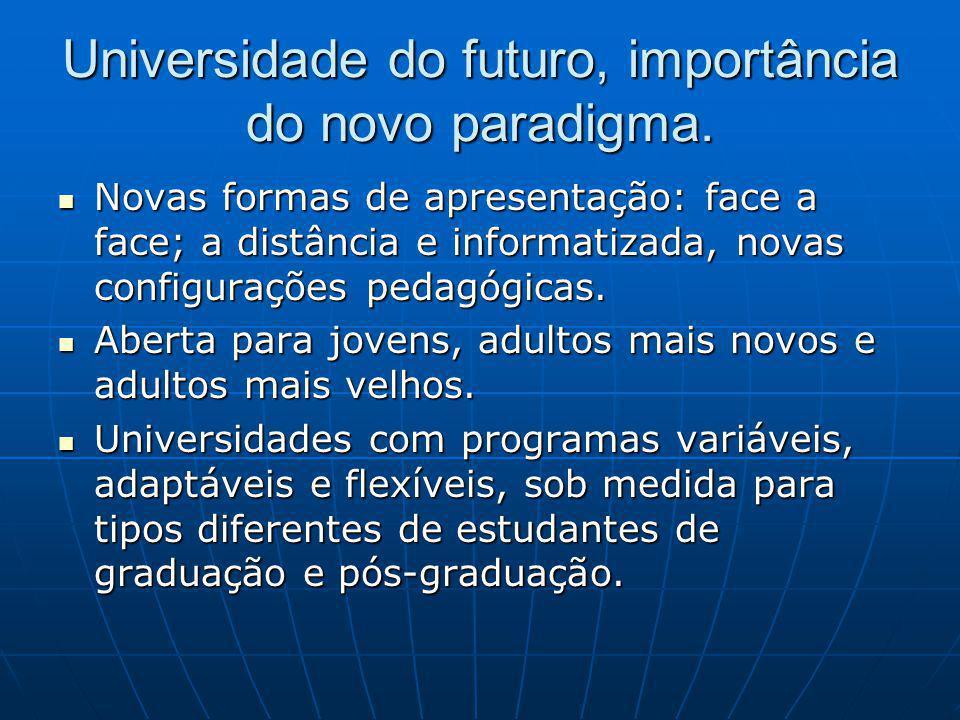 Universidade do futuro, importância do novo paradigma.