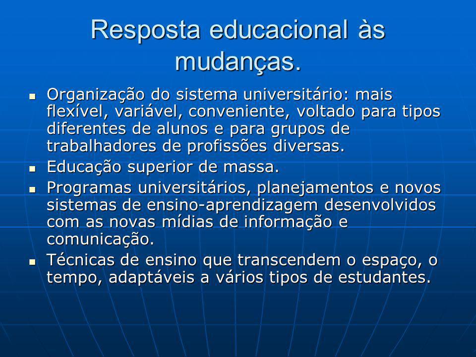 Resposta educacional às mudanças.