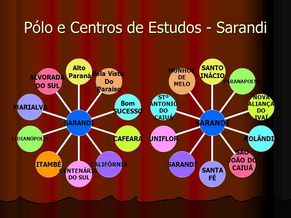Pólo e Centros de Estudos: DIAMANTE DO NORTE DIAMANTE DO NORTE Diamante Do Norte Nova Londrina Planaltina do Paraná Porto Rico Santa Cruz Do Monte Castelo Santa Isabel do Ivaí AmaporãLoanda Terra Rica