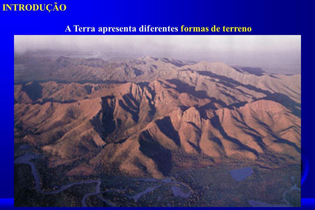 INTRODUÇÃO A Terra apresenta diferentes formas de terreno