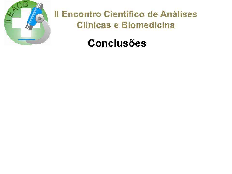 II Encontro Científico de Análises Clínicas e Biomedicina Agradecimentos