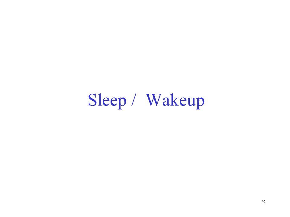 29 Sleep / Wakeup