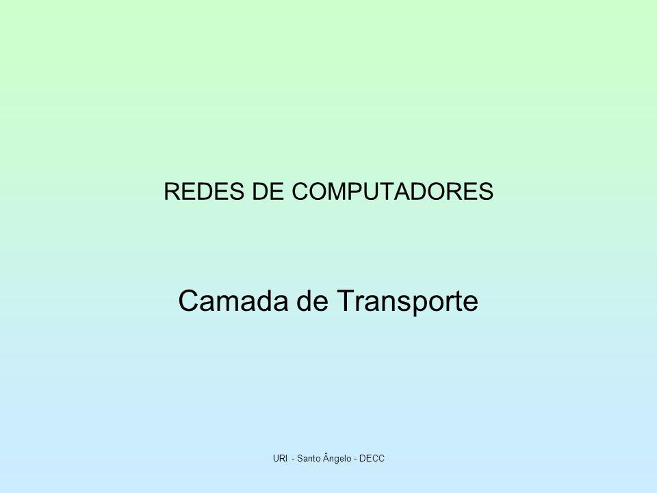 URI - Santo Ângelo - DECC REDES DE COMPUTADORES Camada de Transporte