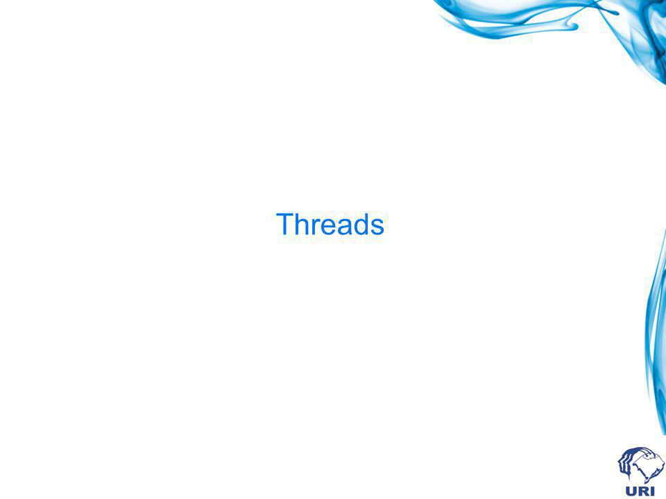 Criando threads main() cria uma thread.