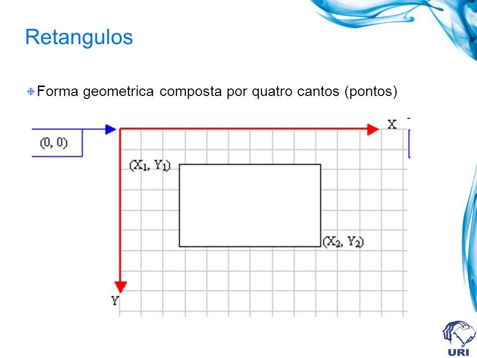Retangulos Forma geometrica composta por quatro cantos (pontos)