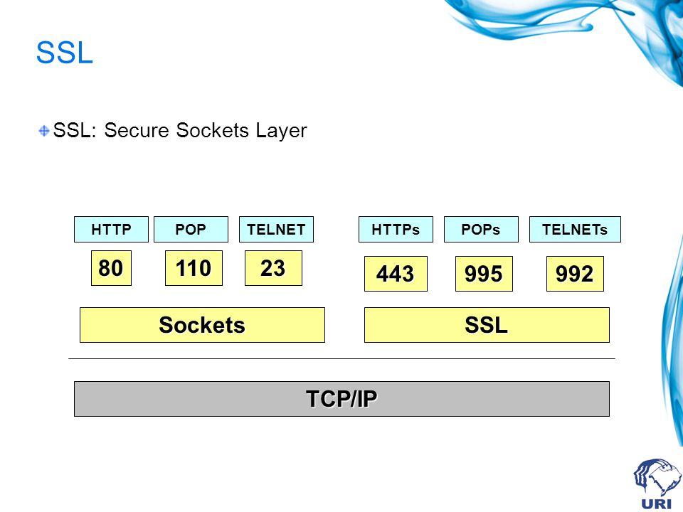Como a criptografia pode ser implementada? Protolco de Aplicação FTP, SMTP, HTTP, Telnet, SNM, etc. TCP, UDP Data Link Ethernet, Token Ring, FDDI, etc