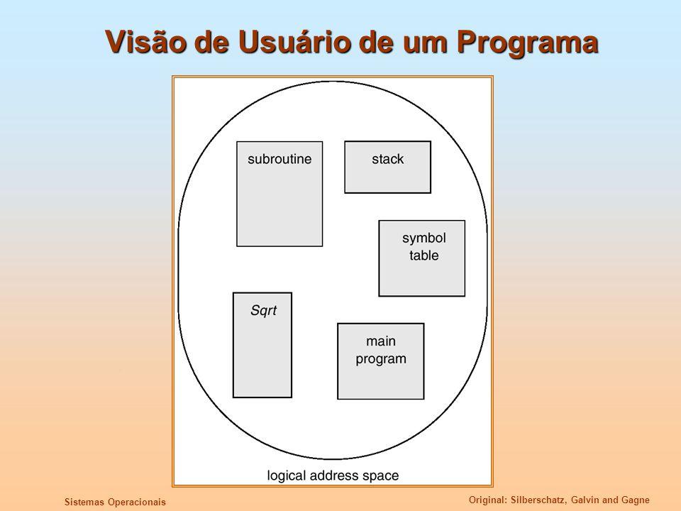 Original: Silberschatz, Galvin and Gagne Sistemas Operacionais Visão de Usuário de um Programa