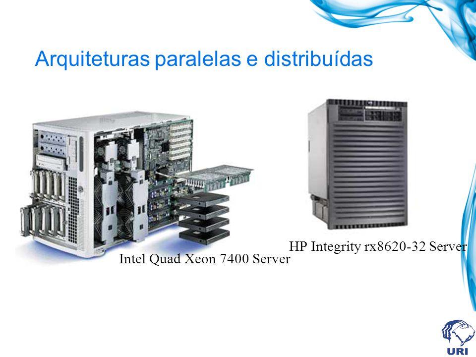 Arquiteturas paralelas e distribuídas Máquinas maciçamente paralelas (MPP) P/C M M M Rede de interconexão de baixa latência Rede de interconexão proprietária.