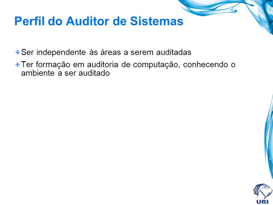 Treinamento do auditor de sistemas Conceituação de Auditoria de Sistemas Controle Interno Produtos finais da Auditoria de Sistemas Mecânica de implantação das recomendações da auditoria Postura do auditado durante a atuação da Auditoria de Sistemas.