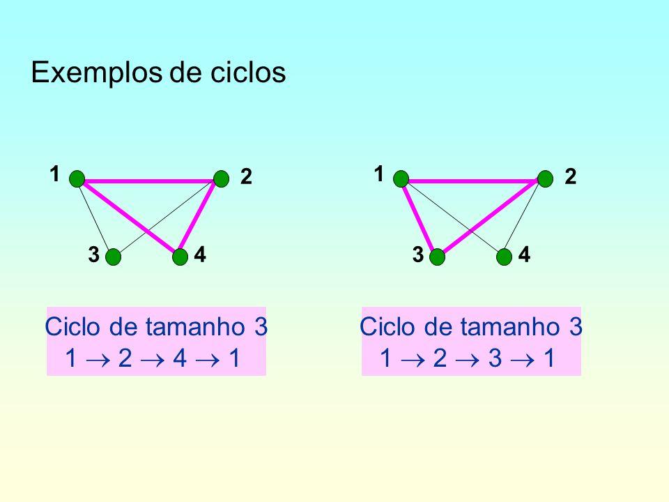 Grafo fortemente conexo –No caso de grafos orientados, um grafo é dito ser fortemente conexo (f-conexo) se todo par de vértices está ligado por pelo menos um caminho em cada sentido –ou seja, se cada par de vértices participa de um circuito.