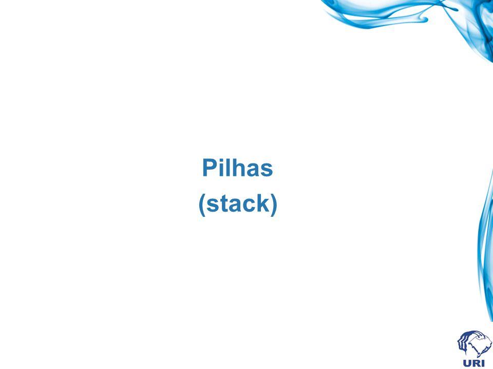 Verificação de pilha cheia int pilhaCheia(struct stack * ps){ if(ps-> topo == MAXPILHA -1) return 1; else return 0;