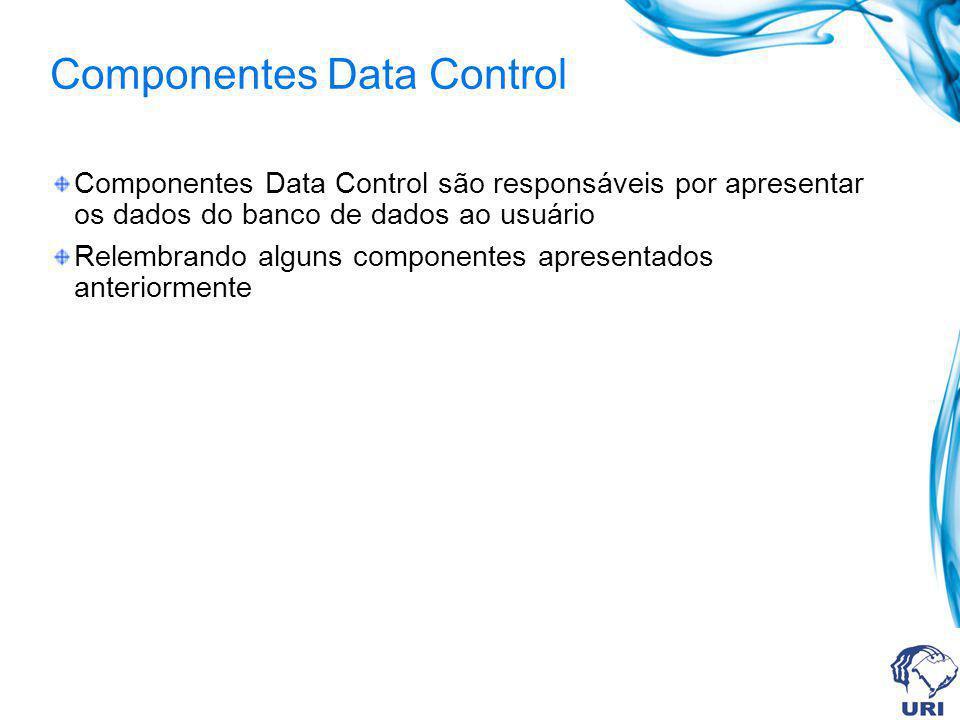 DBGrid Este componente permite mostrar/editar os registros de um arquivo na forma de tabela.