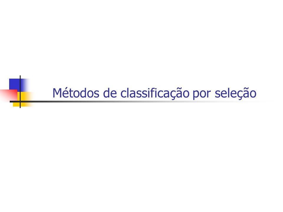 Métodos de classificação por seleção