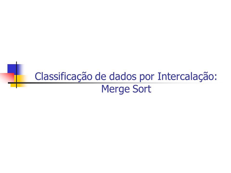 Classificação de dados por Intercalação: Merge Sort