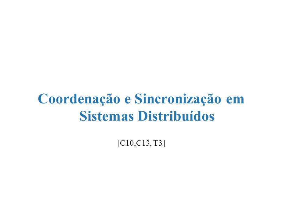 Coordenação e Sincronização em Sistemas Distribuídos [C10,C13, T3]