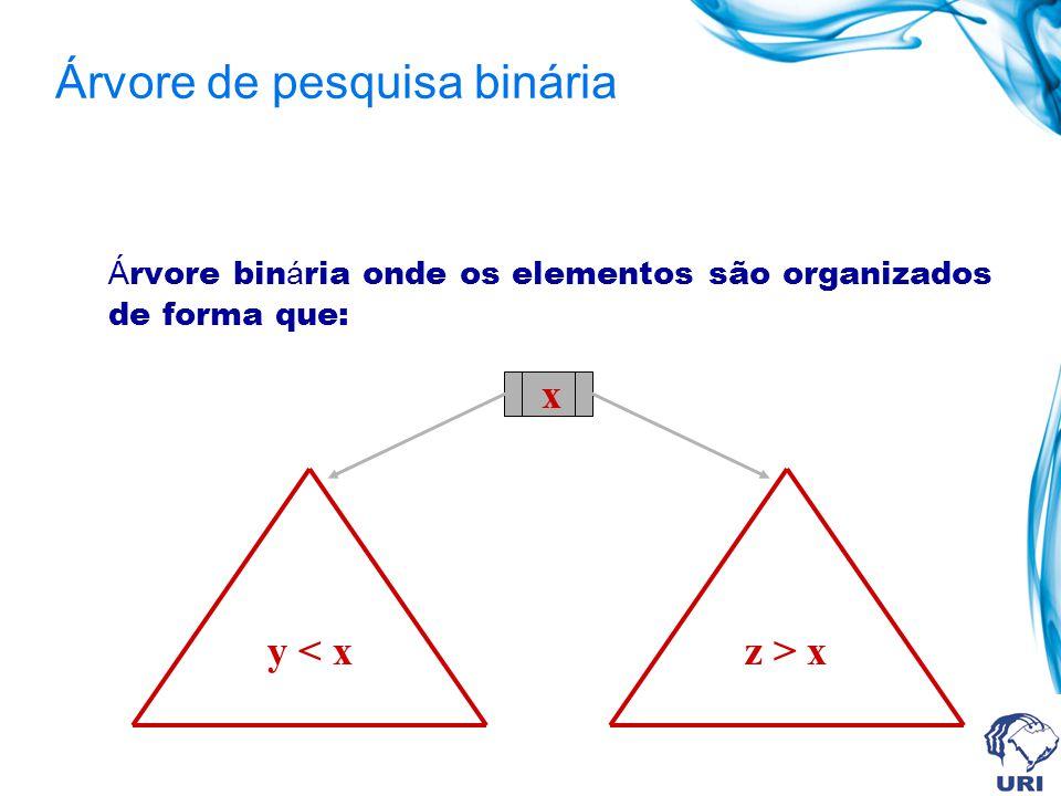 void tInsere (arvorePTR *plist, char x) { if((*plist) == NULL){ *plist=(arvorePTR) malloc (sizeof(struct arvore)); (*plist)->info=x; (*plist)->esq=NULL; (*plist)->dir=NULL; } else{ if (x info){ tInsere (&((*plist)->esq),x); } else{ tInsere (&((*plist)->dir),x); }