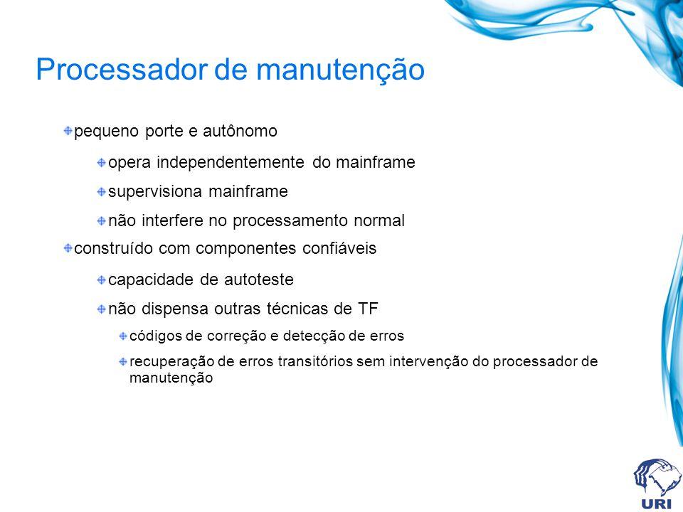 Processador de manutenção pequeno porte e autônomo opera independentemente do mainframe supervisiona mainframe não interfere no processamento normal c