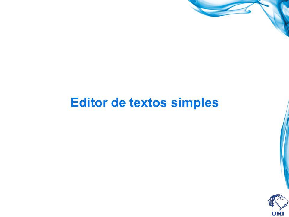 Editor de textos simples