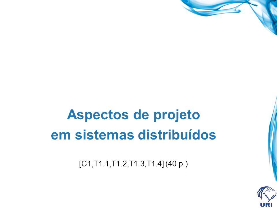 Aspectos de projeto em sistemas distribuídos [C1,T1.1,T1.2,T1.3,T1.4] (40 p.)