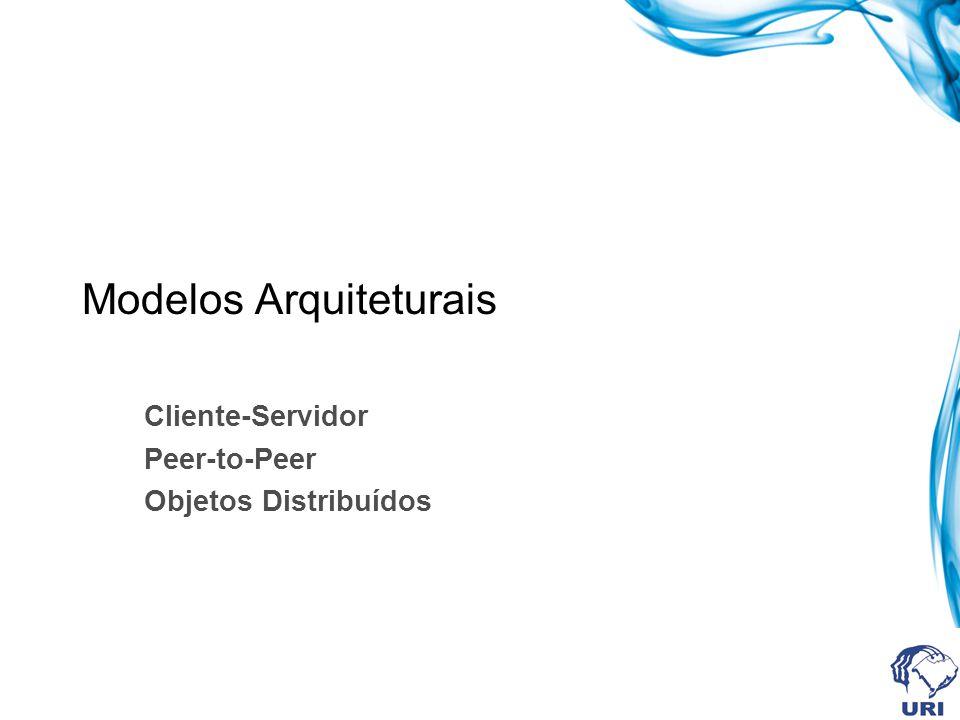 Modelos Arquiteturais Cliente-Servidor Peer-to-Peer Objetos Distribuídos