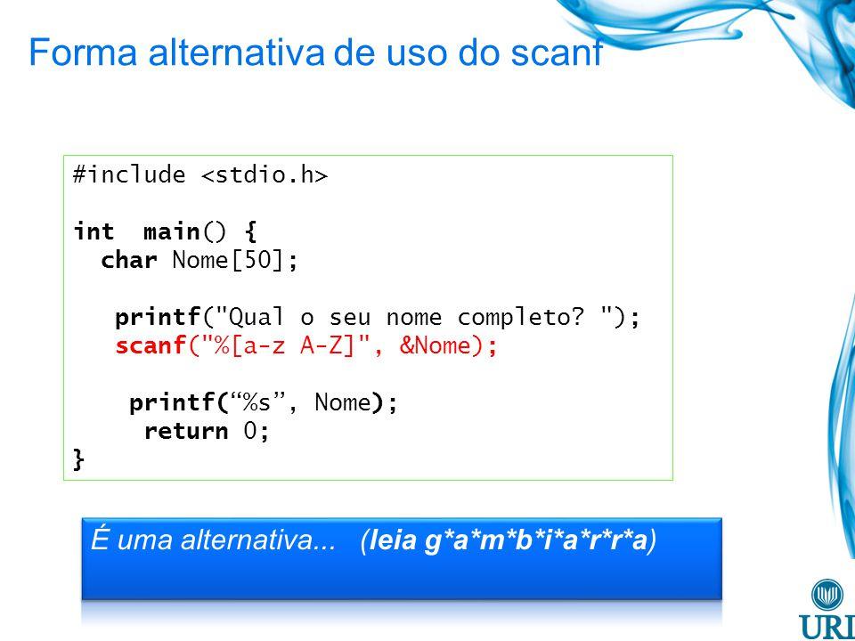 #include int main() { char Nome[50]; printf( Qual o seu nome completo.