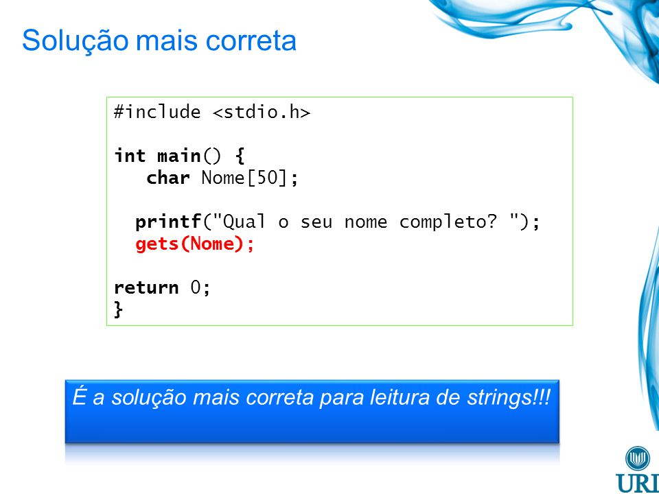 #include int main() { char Nome[50]; printf(