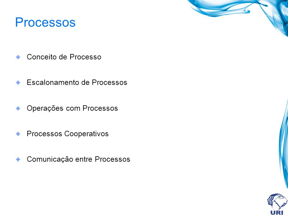 Comunicação entre Processos Processos Independentes.