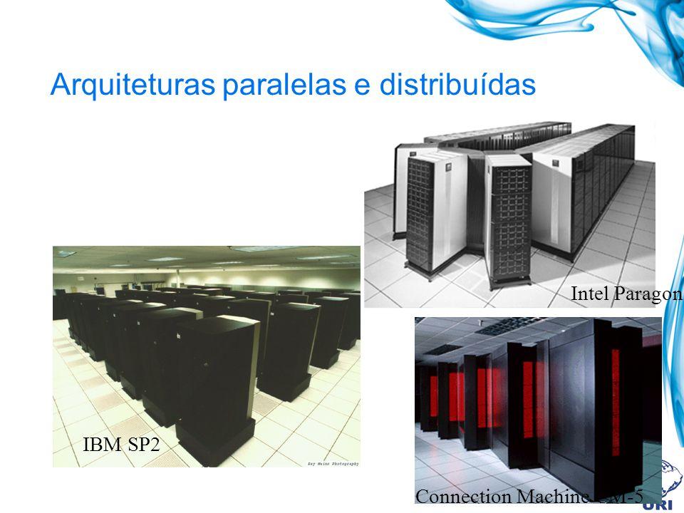 Arquiteturas paralelas e distribuídas IBM SP2 Intel Paragon Connection Machine CM-5
