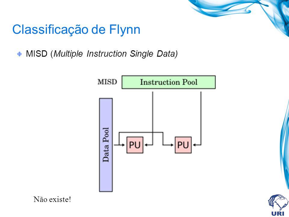 Classificação de Flynn MISD (Multiple Instruction Single Data) Não existe!