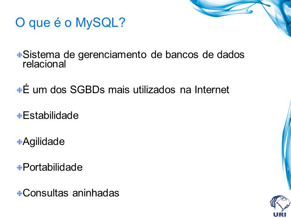 O que é o MySQL.