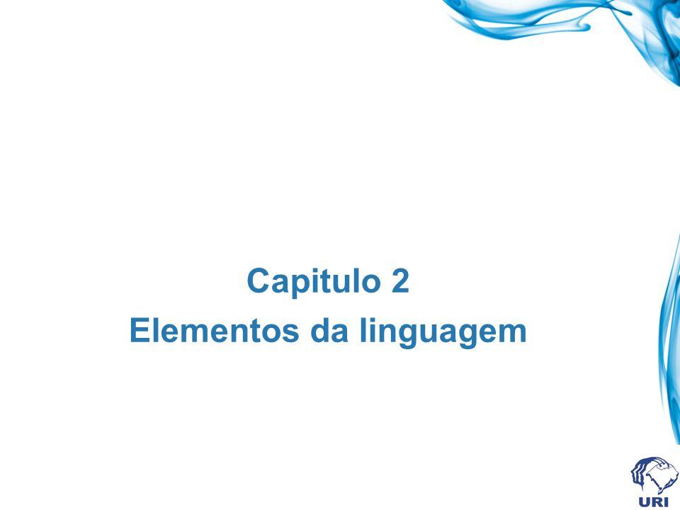 Capitulo 2 Elementos da linguagem