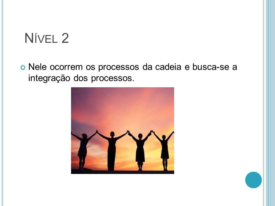 N ÍVEL 2 Nele ocorrem os processos da cadeia e busca-se a integração dos processos.