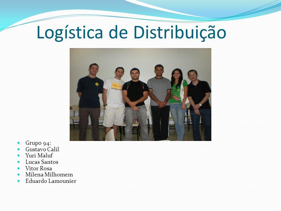 Logística de Distribuição Grupo 94: Gustavo Calil Yuri Maluf Lucas Santos Vitor Rosa Milena Milhomem Eduardo Lamounier