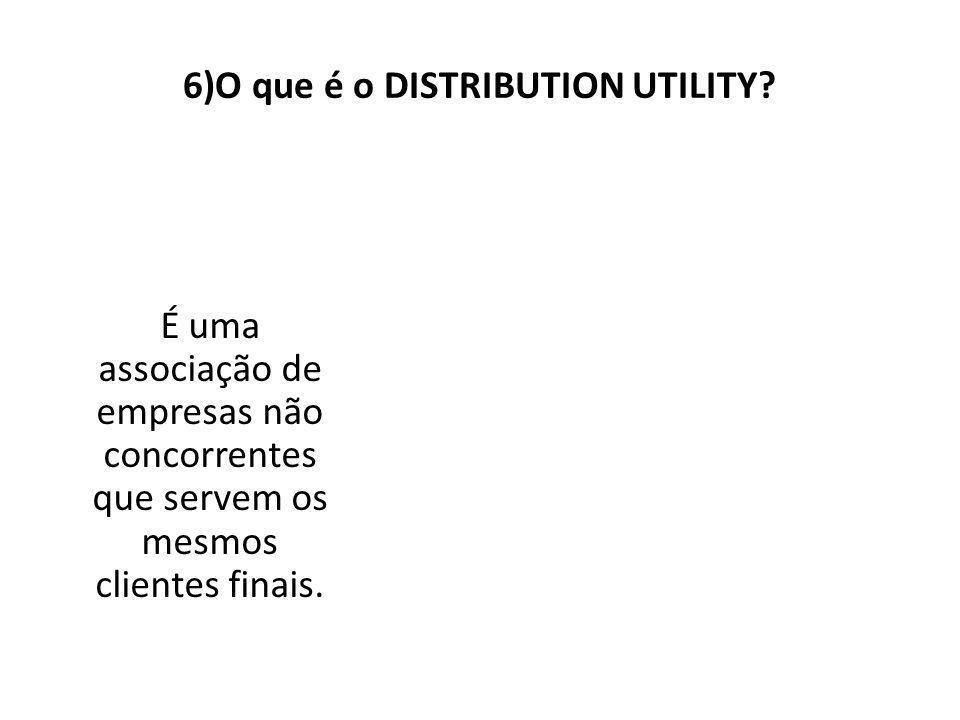 6)O que é o DISTRIBUTION UTILITY.
