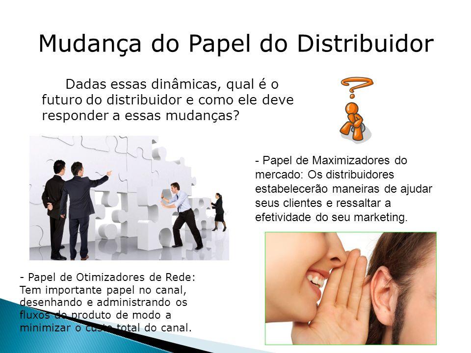 Mudança do Papel do Distribuidor Dadas essas dinâmicas, qual é o futuro do distribuidor e como ele deve responder a essas mudanças.