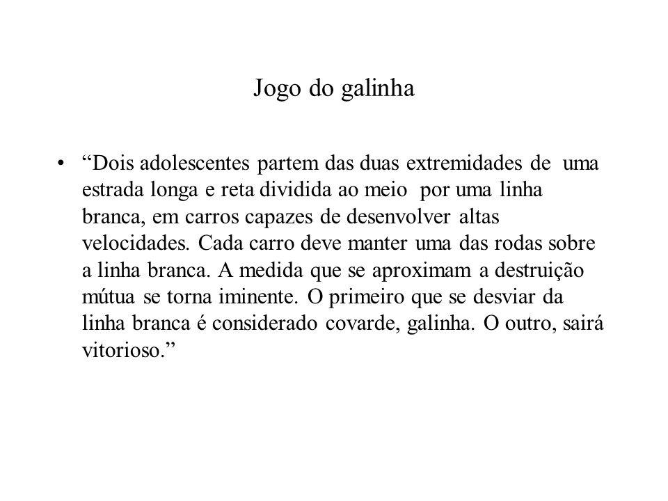 ADOLESCENTE B ADOLESCENTE ADESVIA (COOPERA)NÃO DESVIA (NÃO COOPERA) DESVIA (COOPERA) 2,2 1,3 NÃO DESVIA (NÃO COOPERA) 3,10,0
