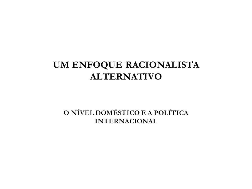 UM ENFOQUE RACIONALISTA ALTERNATIVO O NÍVEL DOMÉSTICO E A POLÍTICA INTERNACIONAL