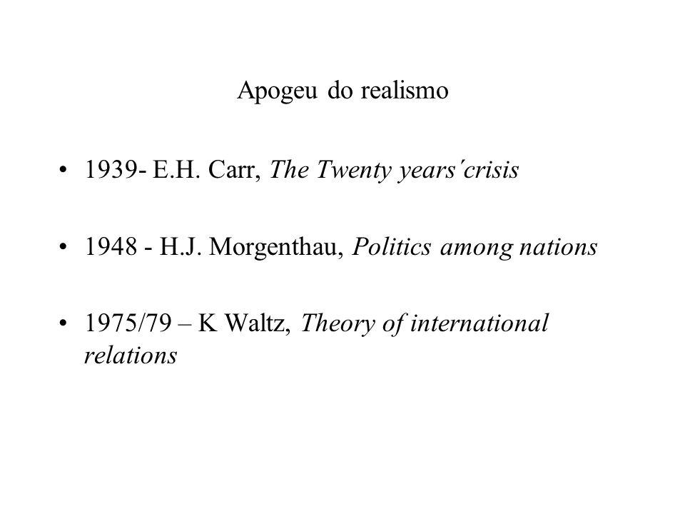 Prioridade do objetivos dos estados Neo-institucionalistas : Bem-estar econômico Neo-realistas: Segurança