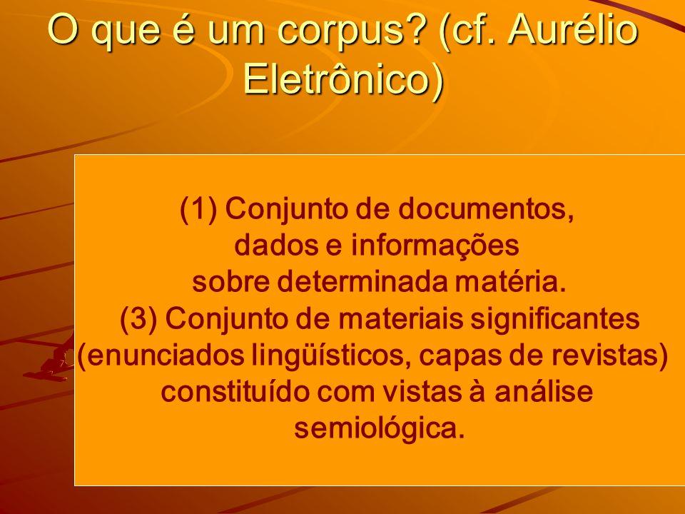 O que é um corpus.(cf.