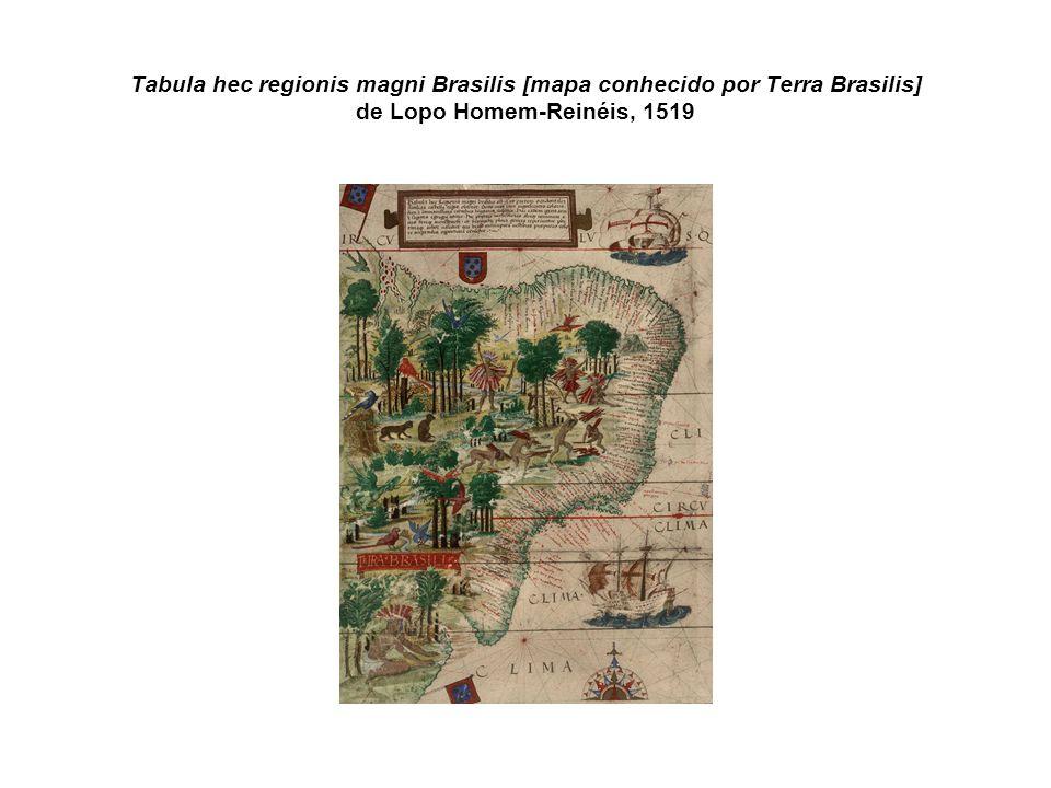 Tabula hec regionis magni Brasilis [mapa conhecido por Terra Brasilis] de Lopo Homem-Reinéis, 1519