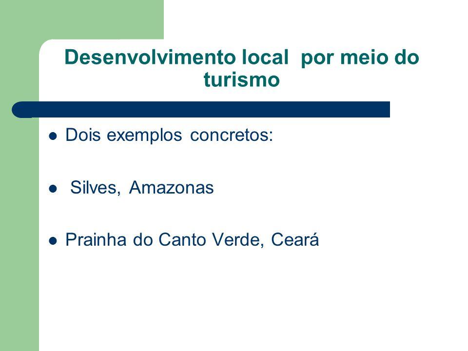 Desenvolvimento local por meio do turismo Dois exemplos concretos: Silves, Amazonas Prainha do Canto Verde, Ceará