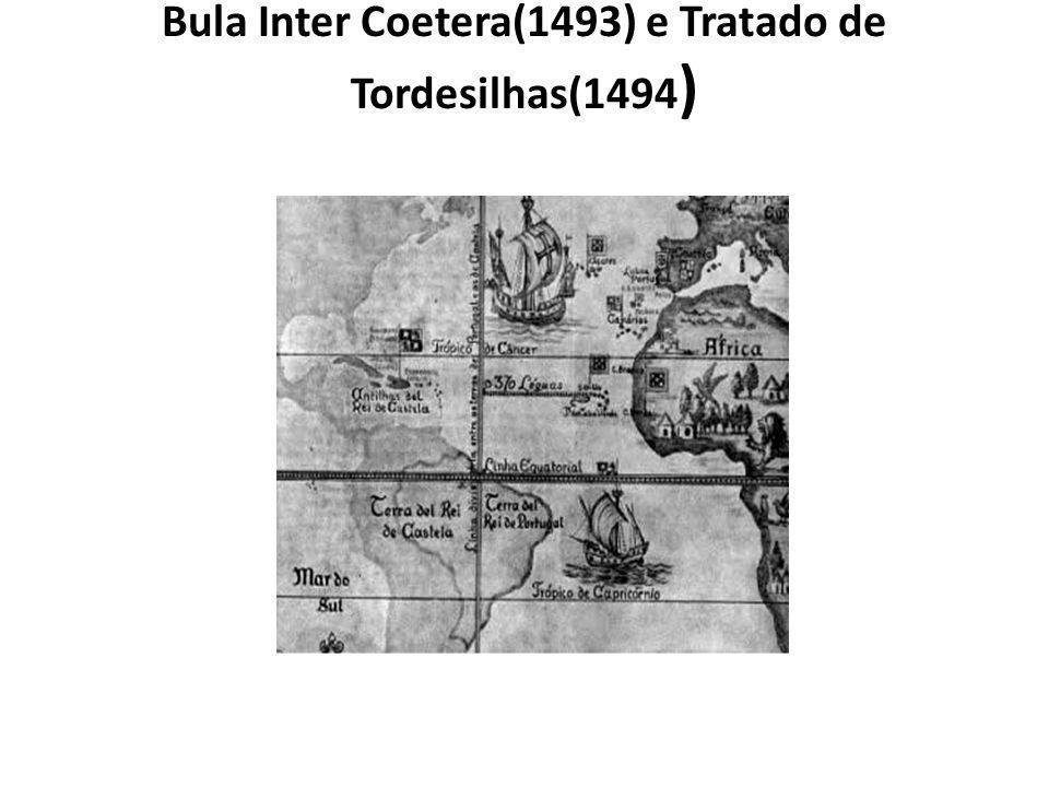 Bula Inter Coetera(1493) e Tratado de Tordesilhas(1494 )