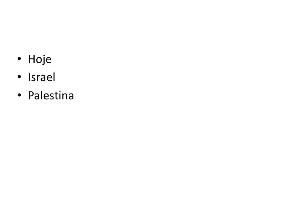 Hoje Israel Palestina