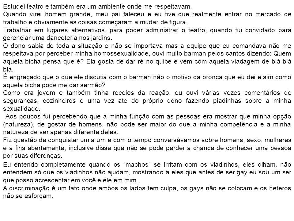 Trechos de uma conversa no MSN.Marcelo Cristiam: Aqui na Aços Leal trabalharia um homossexual.