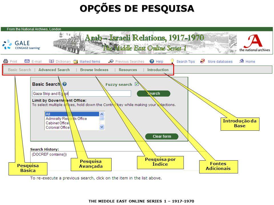 OPÇÕES DE PESQUISA Converse com a bibliotecária de referência a esse respeito.