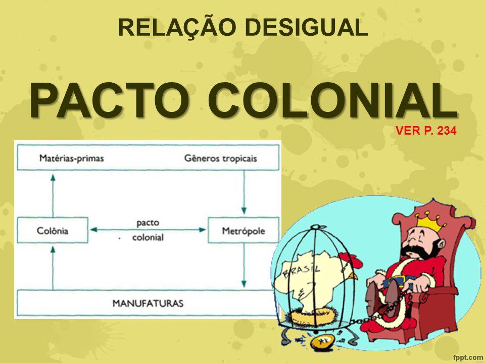 RELAÇÃO DESIGUAL PACTO COLONIAL VER P. 234