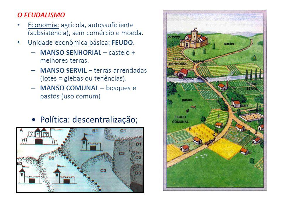 Idade Média: modo de produção feudal feudo: propriedade & privilégio relações de dependência pessoal CONCEITO síntese de instituições romanas e bárbar