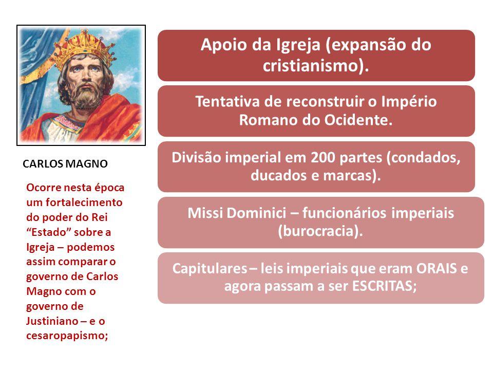 Dinastia Carolíngea – Pepino, o Breve (751 – 768): Quando Pepino vence os Lombardos e os expulsa da Itália; Doação para a Igreja (Patrimônio de São Pe