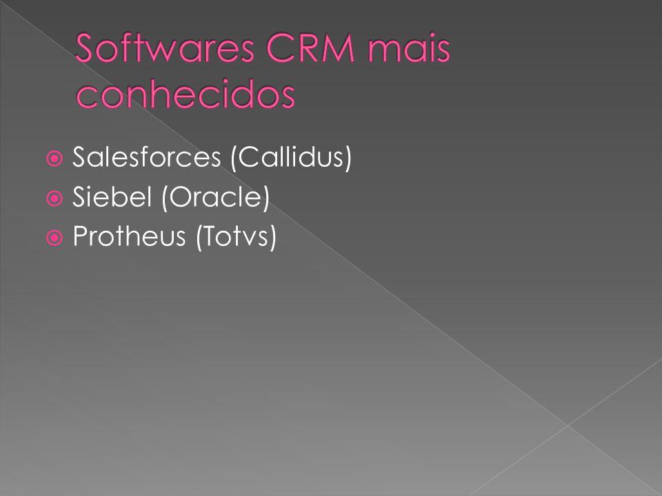 Salesforces (Callidus) Siebel (Oracle) Protheus (Totvs)