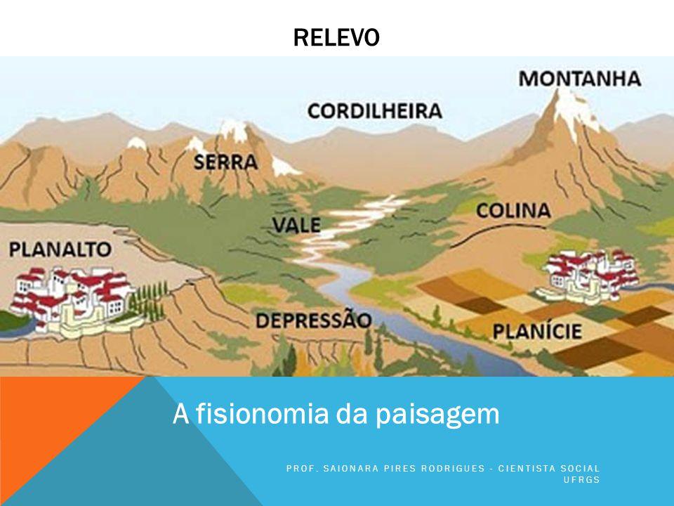 A FISIONOMIA DA PAISAGEM O relevo resulta da atuação de agentes internos e agentes externos à crosta terrestre.